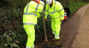 Pothole filling trials