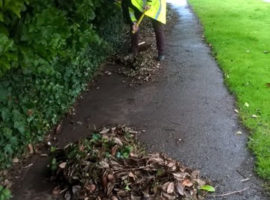 Clearing a footway in Sidmouth