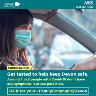 get a COVID-19 test in Devon