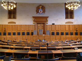 The Council Chamber at County Hall