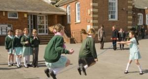 Children playing in a school playground