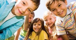 school children smiling