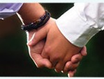 picture of men holding hands