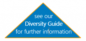 See our diversity guide for further information