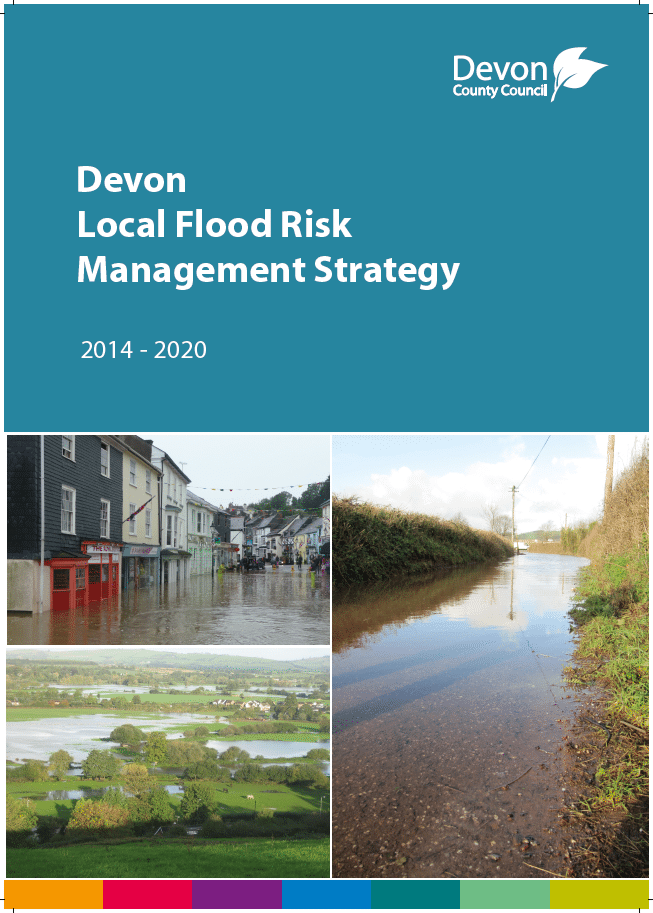 Front cover of the Devon Local Flood Risk Management Strategy
