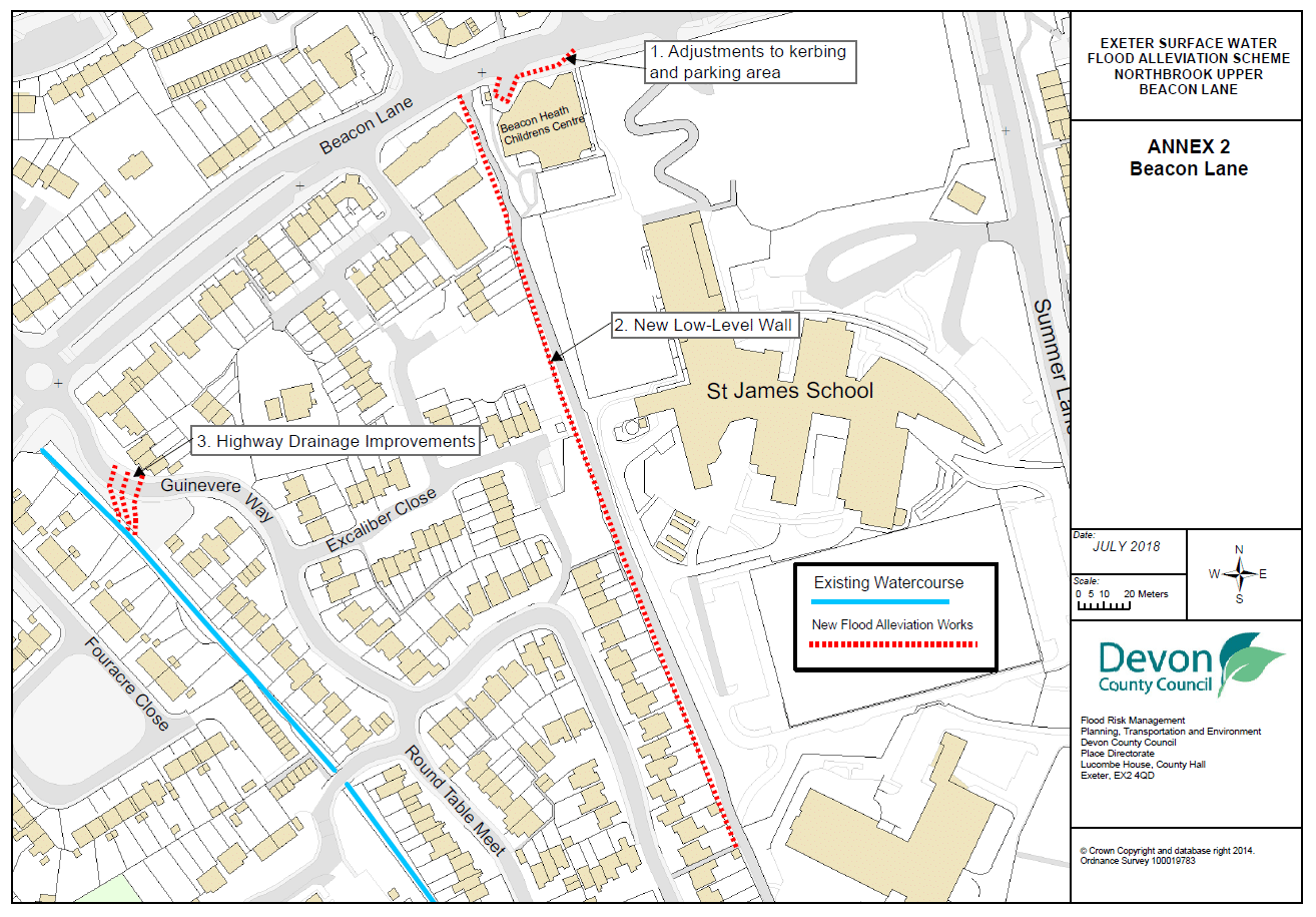 Map showing Exeter phase 1