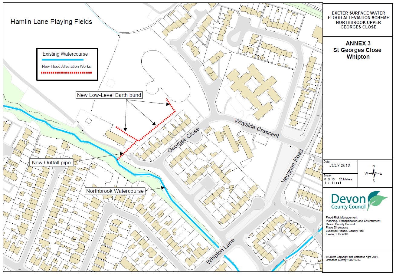 Map showing Exeter phase 2