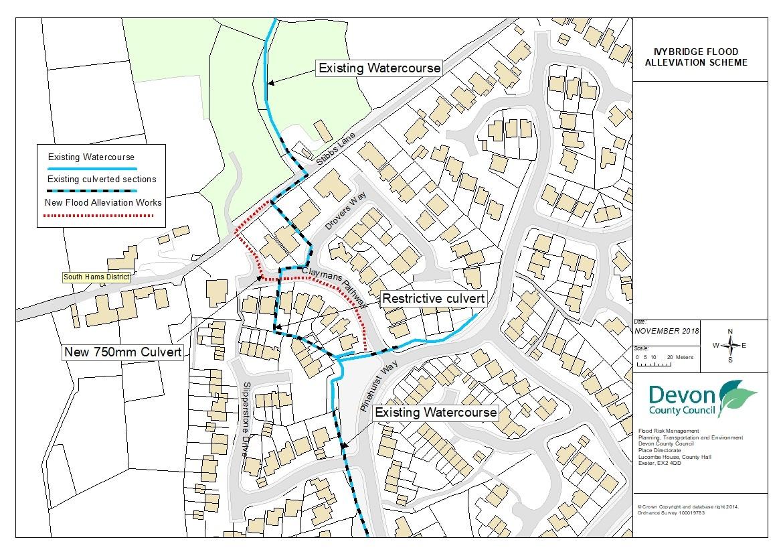 Ivybridge Flood Alleviation Scheme location plan (map)