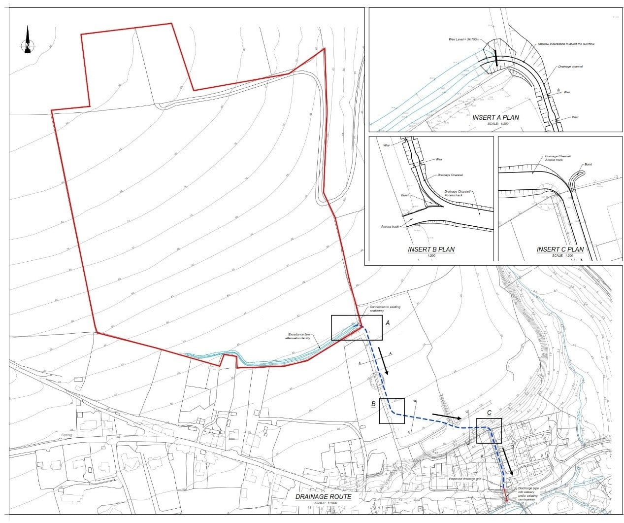Map showing proposed works in Frogmore