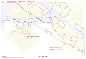 Map showing Holmcourt Diversion