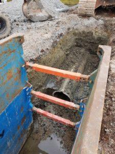 Photo of culvert being installed