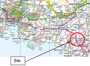 Map showing Location of flood scheme