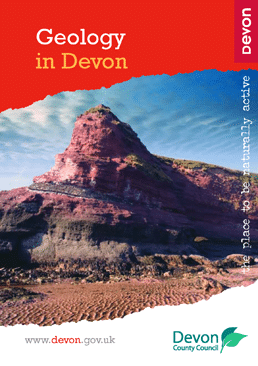Geology in Devon booklet front cover with landscape picture