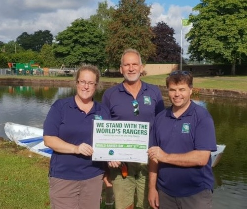 Canal Rangers (Jo Roberts, Craig Saunderson) and Canal Manager (Mark Baker)