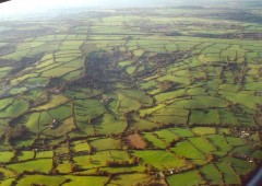 Modern and medieval landscapes on the Blackdown Hills, East Devon. Photo: Reproduced by kind permission of Dr. Sam Turner, University of Newcastle.
