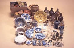 An assemblage of late 17th century pottery from North Street, Exeter. Photo: Reproduced by kind permission of Royal Albert Memorial Museum & Art Gallery, Exeter.