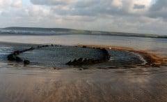 The vanishing wreck on Westward Ho! beach