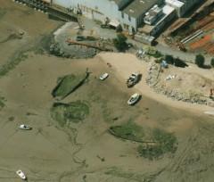 Hulks at Boathyde in 2010. NMR SS4629-1 NMR 23508-17 17-MAY-2004. © English Heritage.