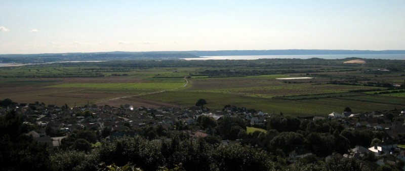 Braunton Great Field from West Hill. Photograph: Stephanie Knight