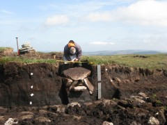 The cist under excavation © Dartmoor National Park Authority