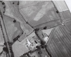 The Pin Brook enclosure photographed from the air by Frances Griffith on 20th July 1996. Photo: Devon County Council