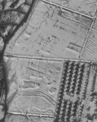 Possible saltern mounds at 'Salt Plot' on Seaton Marshes under snow cover in 1963 (MDV51123). The post-war part of the former Warner's holiday camp is visible on the bottom right of the image (MDV53277). NMR RAF/58/5607 F21 343 22-JAN-1963. Historic England (RAF Photography).