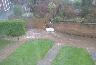Photo of flooding in Ivybridge