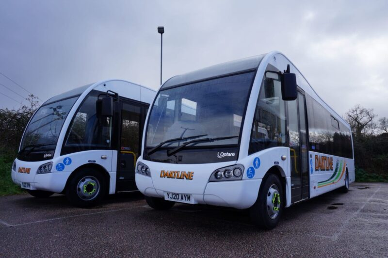 Photo of the new Dartline buses on Service 20