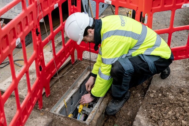 Photo of an Openreach engineer at work