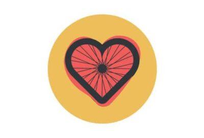 Heart shaped bike wheel