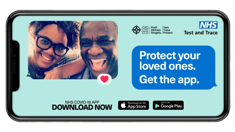 'Get The App' campaign image, with words to encourage people to download the app