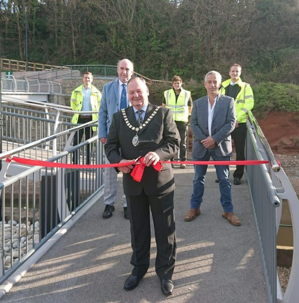 Photo of the opening of the new footbridge in Sidmouth