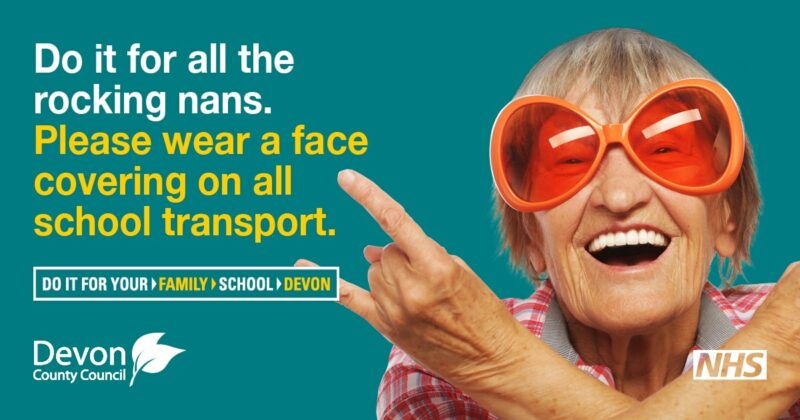 Photo of school transport face covering campaign