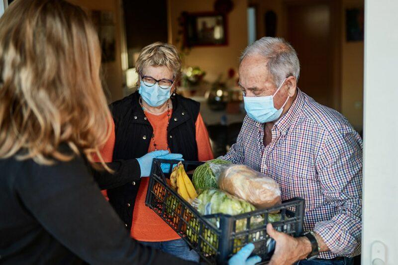 delivering groceries to elderly vulnerable