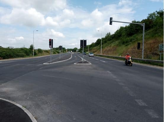 Photo of the improved Westleigh Junction