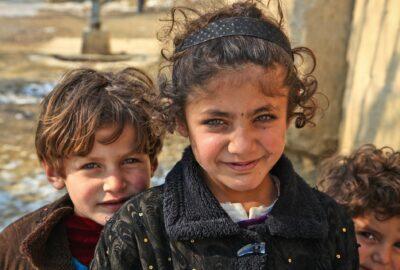 Afghan boy and girl