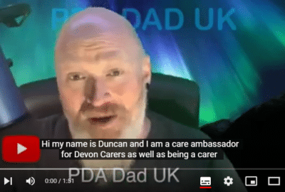 Duncan, the carer, explaining in his video why he decided to get double vaccinated against coronavirus