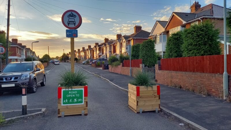 """Photo of a traffic """"filter"""" in Chard Road"""