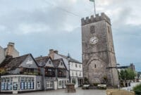 Picture of Newton Abbot town centre and clock tower