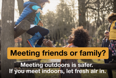 Advice for when meeting friends or family image