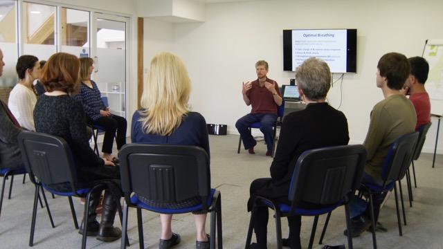 Photo of Paul Beard teaching a group