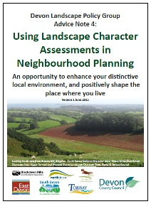 Image of front cover of report, with image of green hills, farmland, hedgerows and countryside