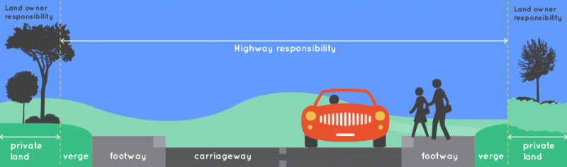 Image showing who is responsible for maintaining highways trees and verges