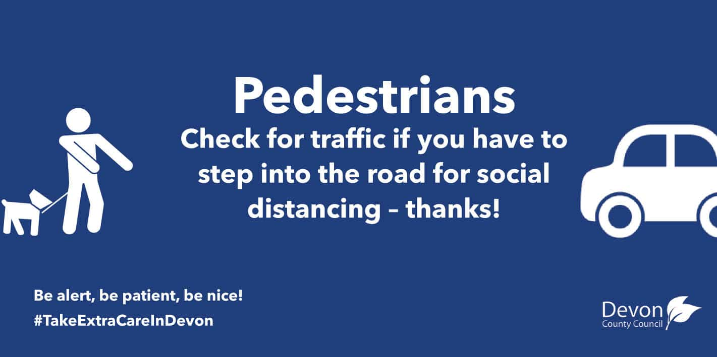 Pedestrians-Check for traffic if you have to step into the road