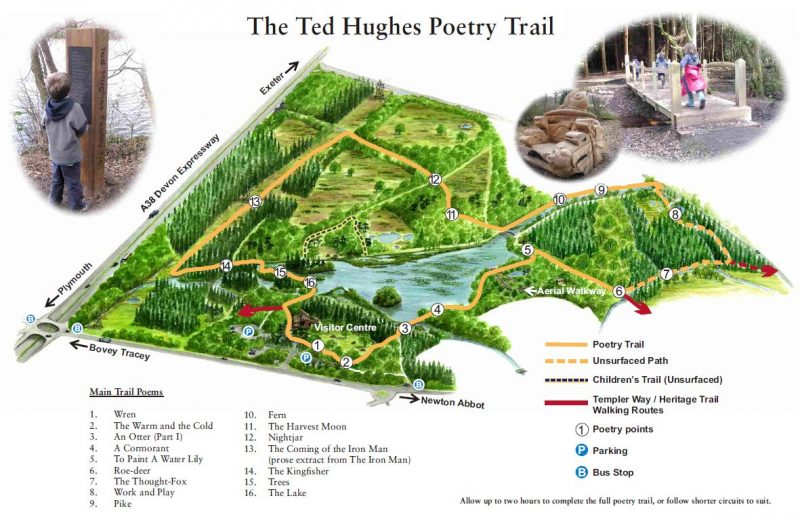 Map of the Poetry Trail