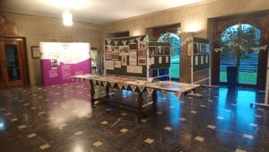 Picture of the exhibition on Suffrage history at County Hall