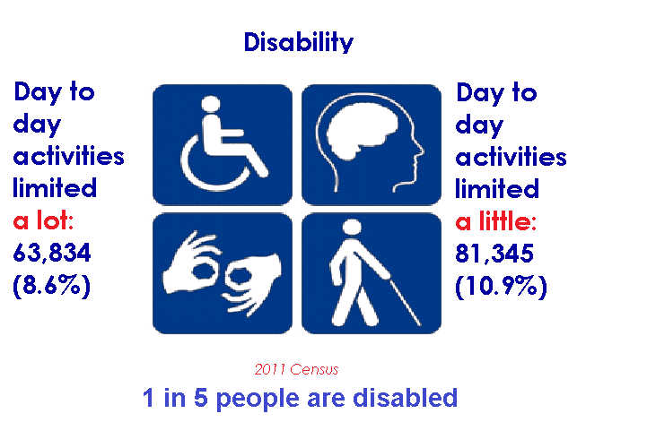 Pictorgram showing results for disability already stated