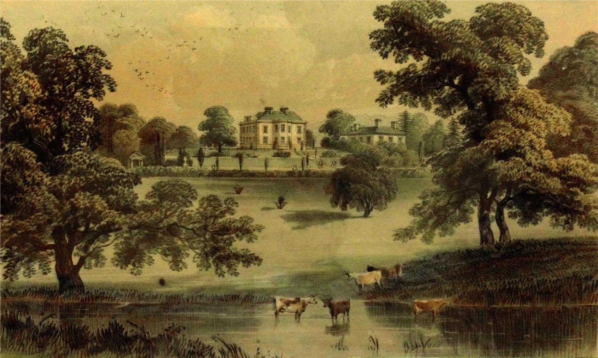 Engraving of Stover Lodge, T. Bonnor publ. by R Polwhele 1773