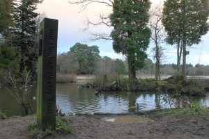 The Ted Hughes Poetry Trail marker - photo by Lore Gubb