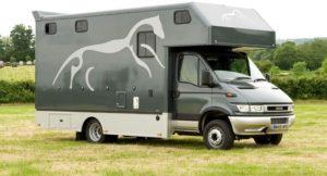Luton horsebox lorry